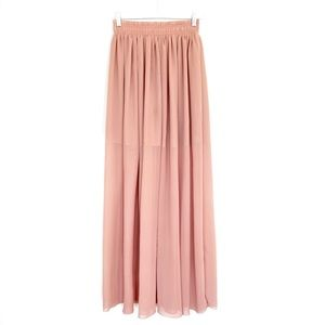 PINUP-GIRL High Waist Ballerina Chiffon Maxi Skirt